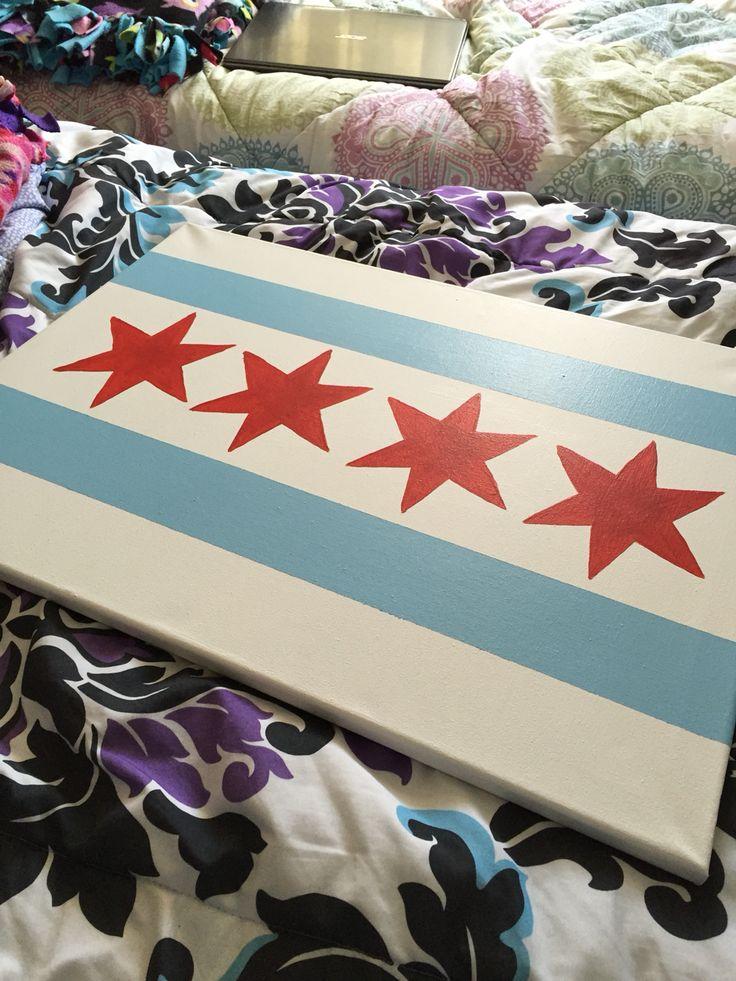 Chicago flag canvas!