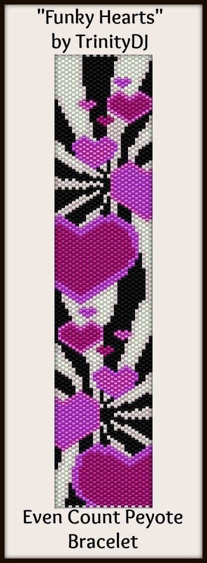 Wayuu Mochila pattern funky hearts