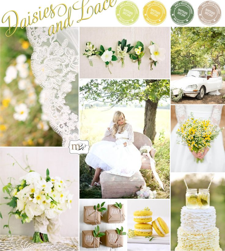Magnolia Rouge: Inspiration Board: Daisies  Lace