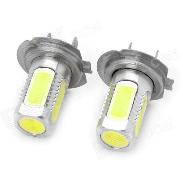 Quantity: 2 Piece; Casing Color: White; Material: Aluminum alloy; Emitter Type: LED; Total Emitters: 5; Light Color: White; Rated Voltage: 12~24V; Power: 7.5W; Luminous Flux: 330~380LM; Color Temperature: 6500~7500K; Connector Type: H7; Application: Foglight; Packing List: 2 x LED car bulbs; http://j.mp/1lktWox