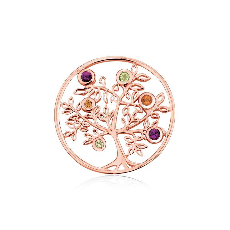 10ct gold & multistone pendant disc insert. #elysiancollection #emmaandroe #jewelry #jewellery #pendants #interchangeable