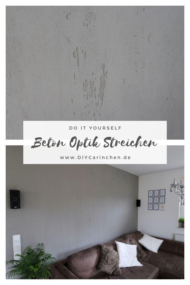 Diy Wandgestaltung In Beton Optik Kein Problem Mit Dieser Anleitung Diy Wandgestaltung Wandgestaltung Schoner Wohnen Farbe