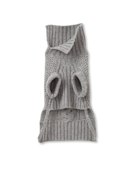 Malo Cable-Knit Dog Sweater >> love the collar