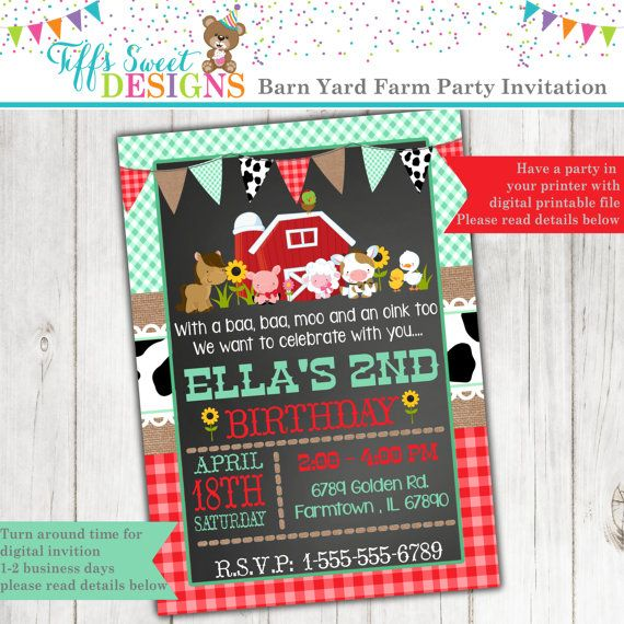 Best 25+ Farm Party Invitations Ideas On Pinterest