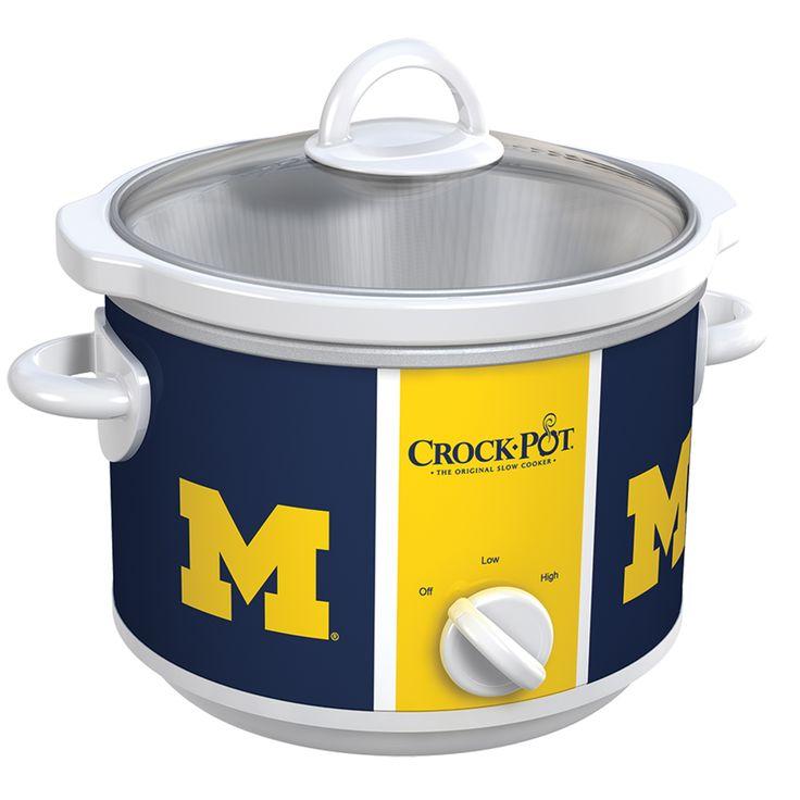 Michigan Wolverines Collegiate Crock-Pot® Slow Cooker......... I WANT!!