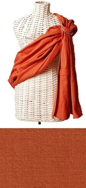 """Burnt Orange Maya Wrap Ring Sling Baby Carrier"" Another color I wear a lot"