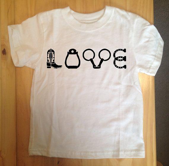 Horse Love T-Shirt Equestrian T-Shirt Cowgirl by HPDesignsShop