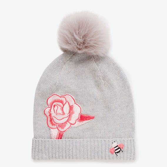 Rose Patch Beanie  CLOUD MARLE  hi-res