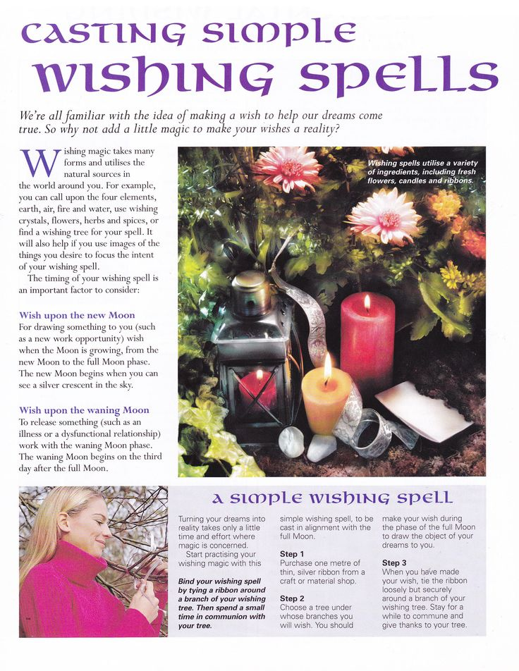 Casting simple wishing spells