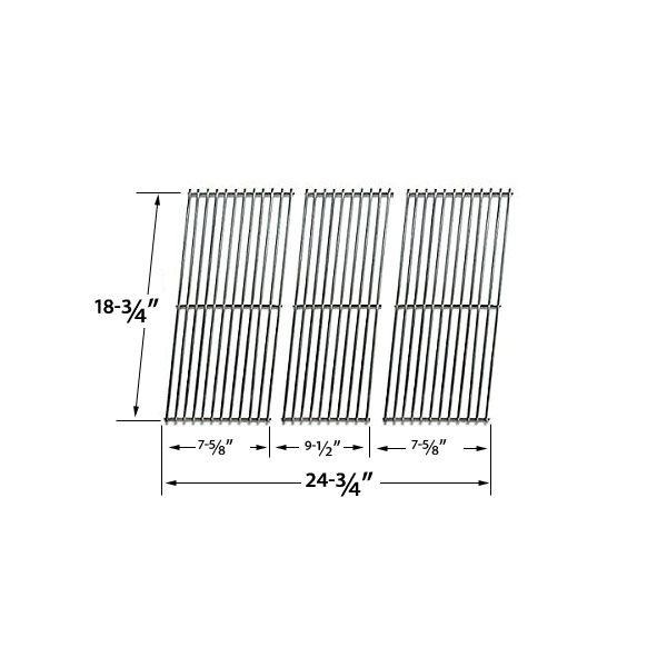 3 PACK REPLACEMENT STAINLESS STEEL COOKING GRID FOR ACADEMY SPORTS BQ06W1B, BBQ GALORE XC03WN AND KENMORE 119.16240, BQ06W1B GAS GRILL MODELS Fits Compatible Academy Sports Models : B070E4-A, BQ06W1B Read More @http://www.grillpartszone.com/shopexd.asp?id=34719&sid=25996
