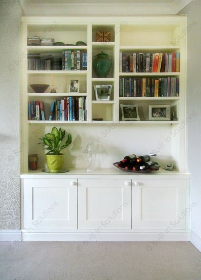 Lovely Inset Built In Cabinets Into An Alcove