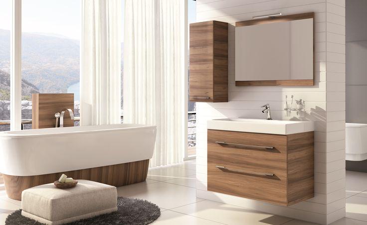 Barcelona 80 2S piemonte, umywalka ceramiczna Luna 80/ ceramic washbasin LUNA. #elita #meble #lazienka #barcelona #bathroom #furniture