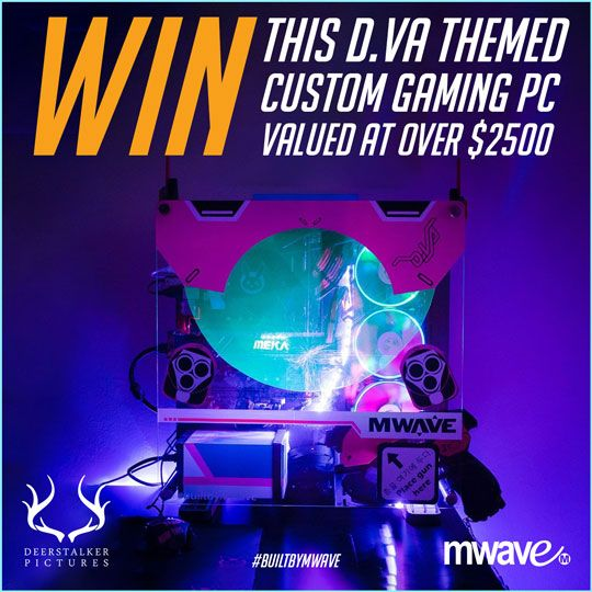 MWAVE & DEERSTALKER - D.Va 'GG' Custom Gaming PC Giveaway