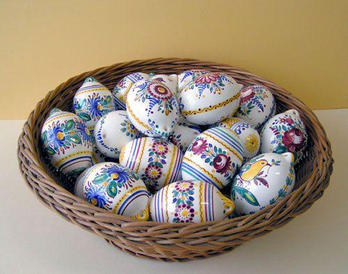 Modra ceramic eggs from Slovakia