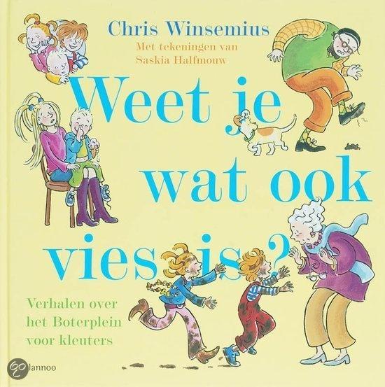 Weet Je Wat Ook Vies Is? - Chris Winsemius - 9789085683728 - € 12,95. Vanaf ca. 4 jaar. Over poep under onder je schoen, vallen in de modder. frietjes in een zee van ketchup, een grote harige rups... Bah wat vies allemaal!  De kinderen van het Boterplein, Roos, Merel, Mees en Olle, maken weer de gekste dingen mee. LEES VERDER OF BESTEL BIJ TOPBOOKS VIA : http://www.bol.com/nl/p/weet-je-wat-ook-vies-is/1001004004702763/prijsoverzicht/?sort=price=desc=new