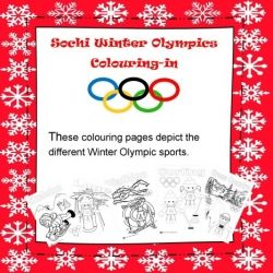 Winter Olympics Colouring-in