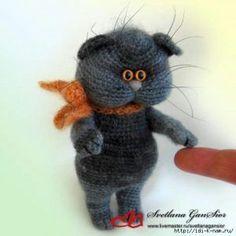Вязаный кот Кузя -ОПИСАНИЕ!