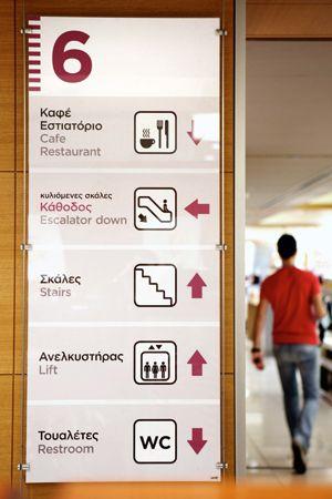 Signage and interior graphics for Attica stores Attica Stores S.A.