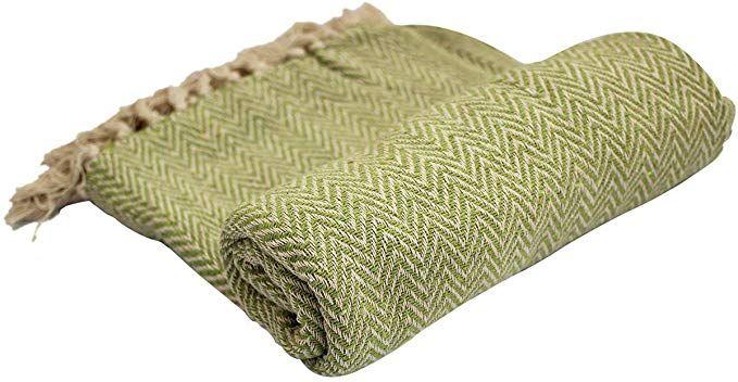 Crafkart Throws Green Throw Blanket #Cotton #Chevron