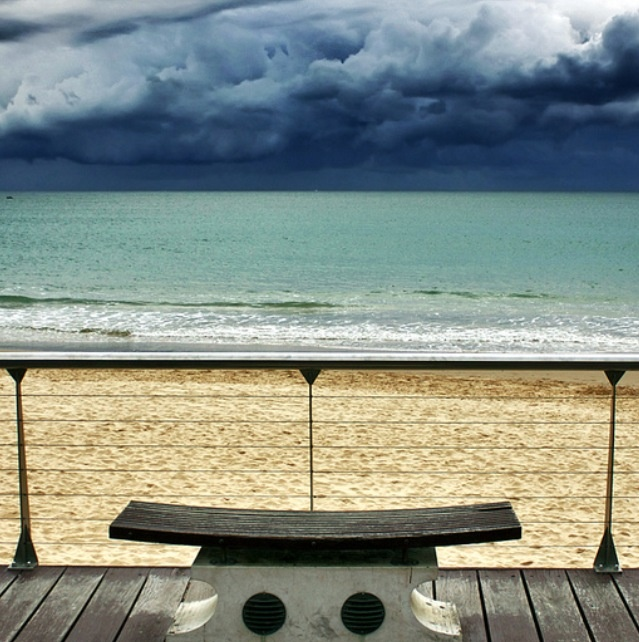 Awaiting the storm in Mooloolaba, Qld