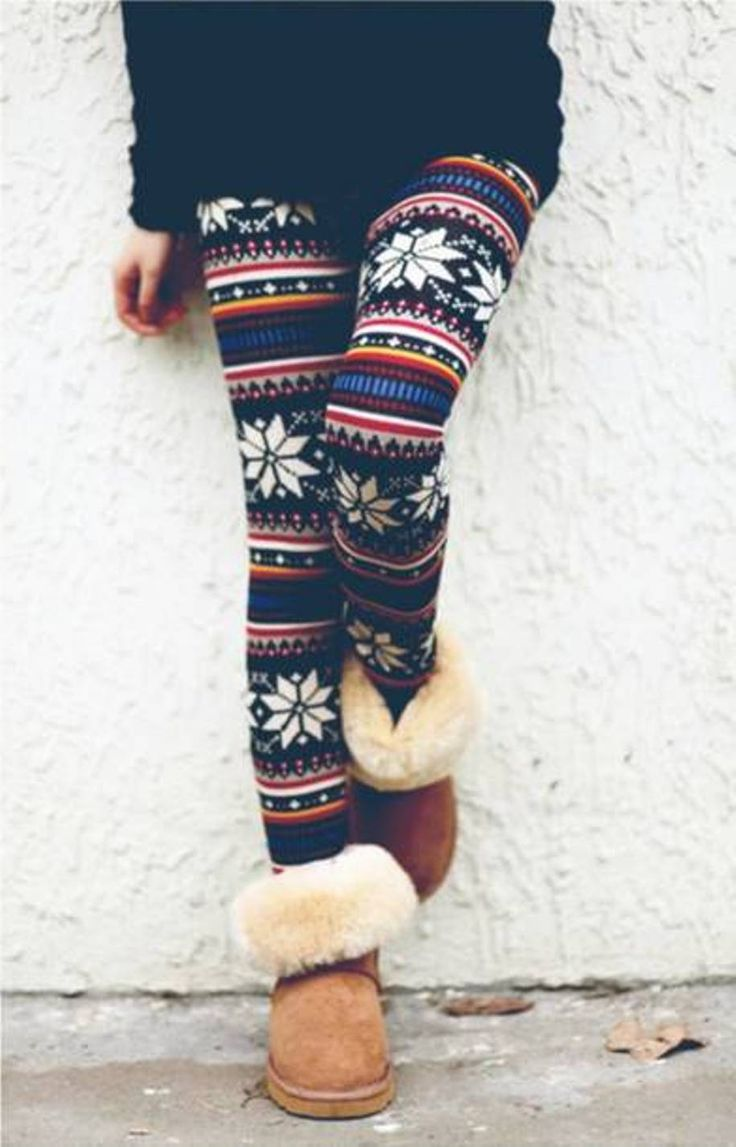 I always find it hard to find a cute outfit to go with boots like these...I feel like patterned leggings compliment them well.
