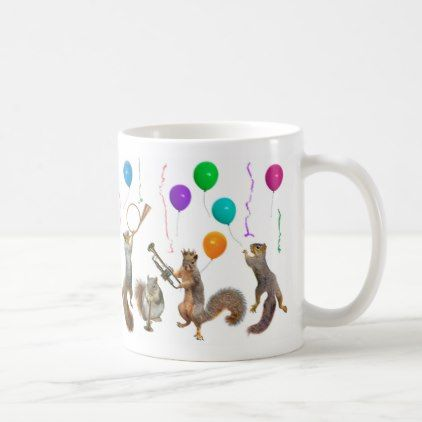 Squirrels Music Party Mug - new years eve happy new year party design ideas holiday party