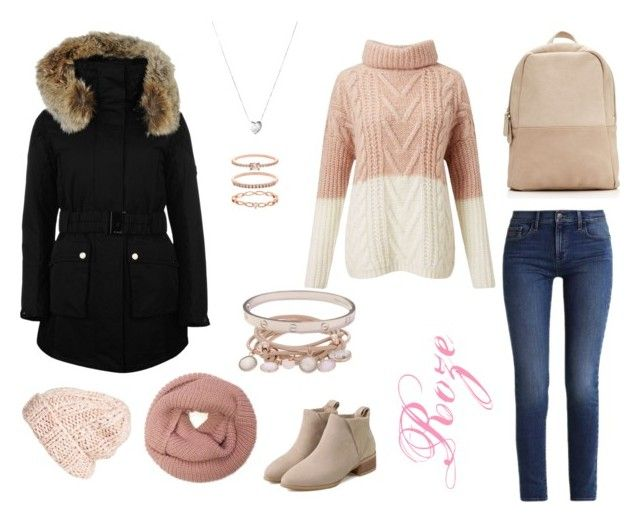 Pink for winter by azarum on Polyvore featuring Miss Selfridge, K100 Karrimor, Calvin Klein, Cartier, Marjana von Berlepsch, Links of London, Accessorize and Free People
