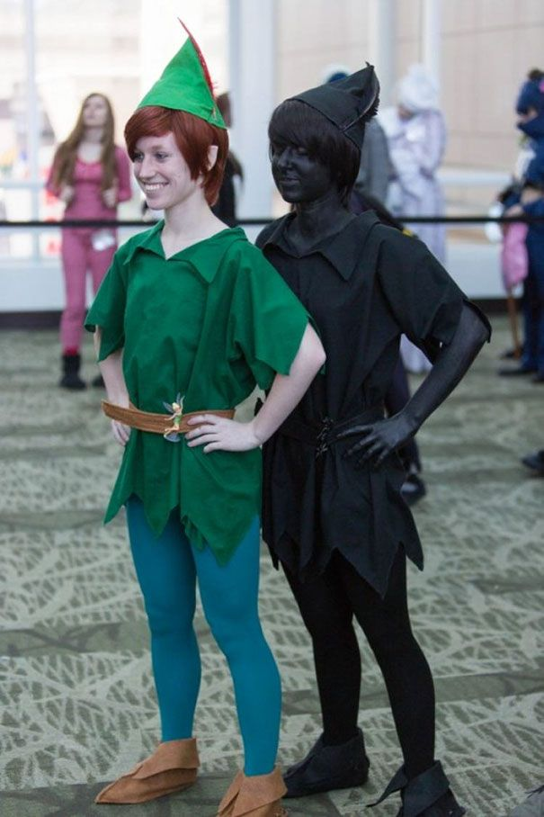 Nice idea if you are twins :)  Peter Pan And His Shadow Cosplay