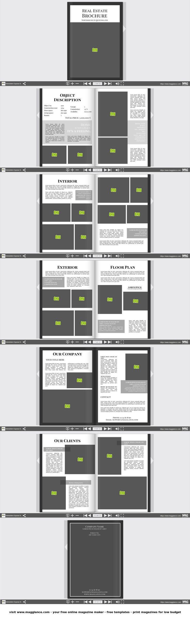 Immobilien Expose kostenlos online erstellen und günstig drucken unter de.magglance.com #Immobilien Expose #Wohnen #Immobilien Makler #DIY #Vorlage #Design #Muster #Beispiel #Template #Gestalten #Erstellen #Layout