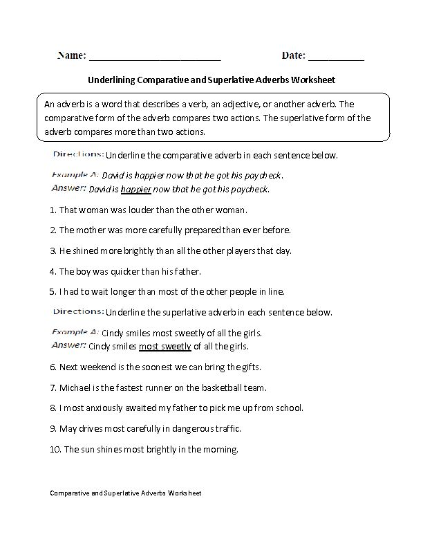 36 best images about comparativesuperlative adjectivesadverbs on – Adjectives That Compare Worksheets