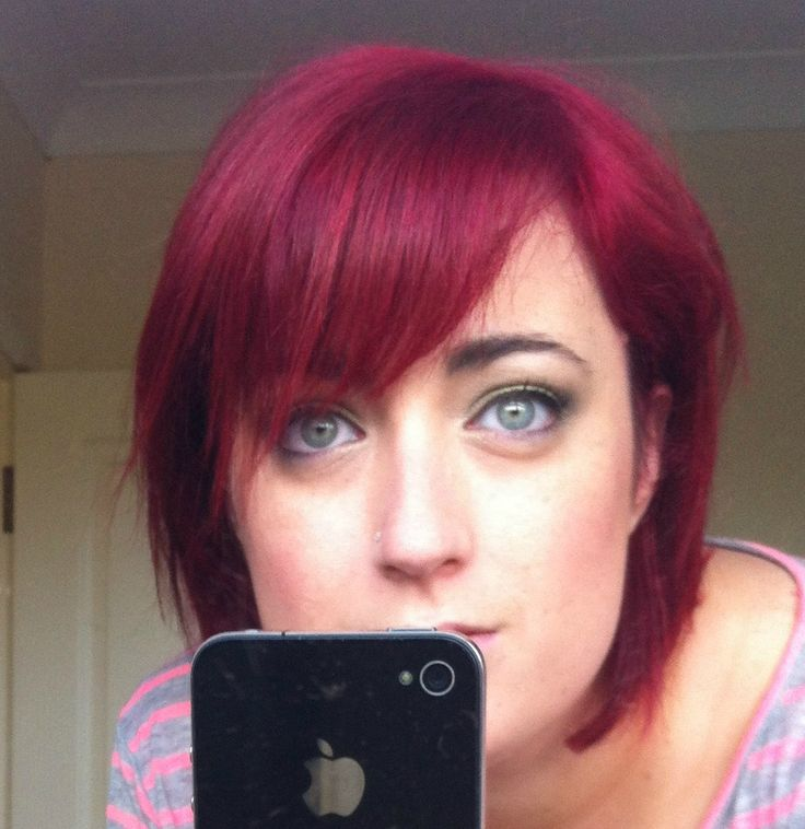 L Oreal Hicolor Red Magenta Highlights On Dark Hair