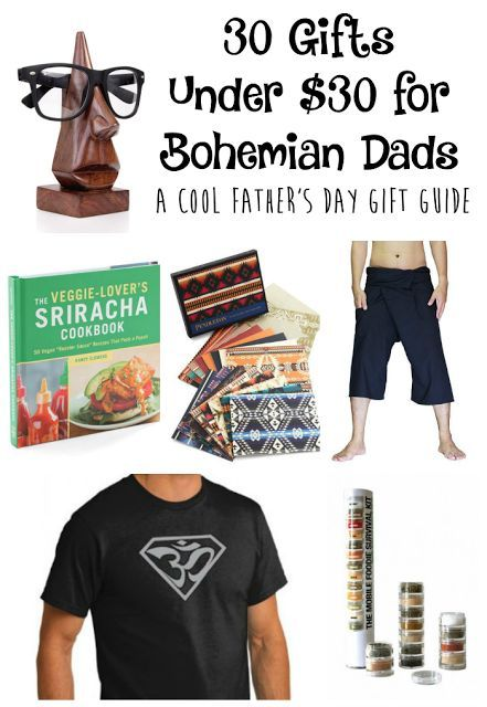 30 Gifts Under $30 for Hippie Bohemian Dads {Cool Father's Day gift guide}