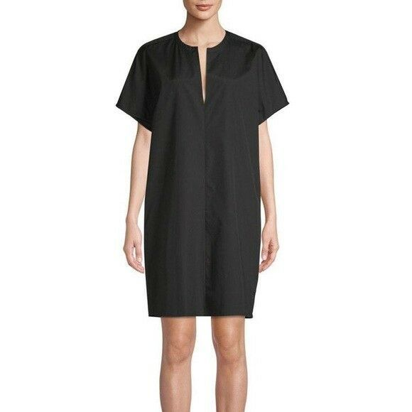 2769135e76e Vince Black Split Collar Shift Dress Size S Small VX59650951 $295 #Vince  #ShiftDress