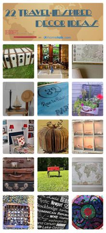 22 Travel-Inspired Decor Ideas | curated by 'Designer's Sweet Spot' blog!