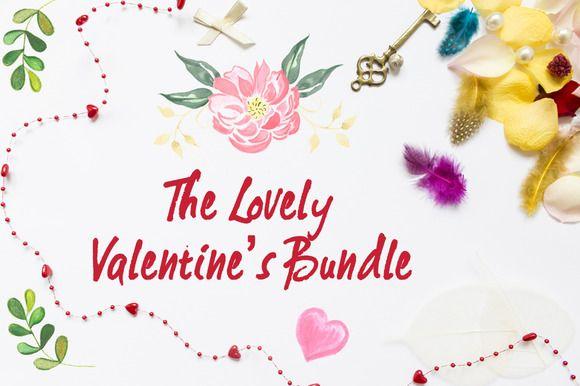 The Lovely Valentine's Bundle by digitalopedia on Creative Market