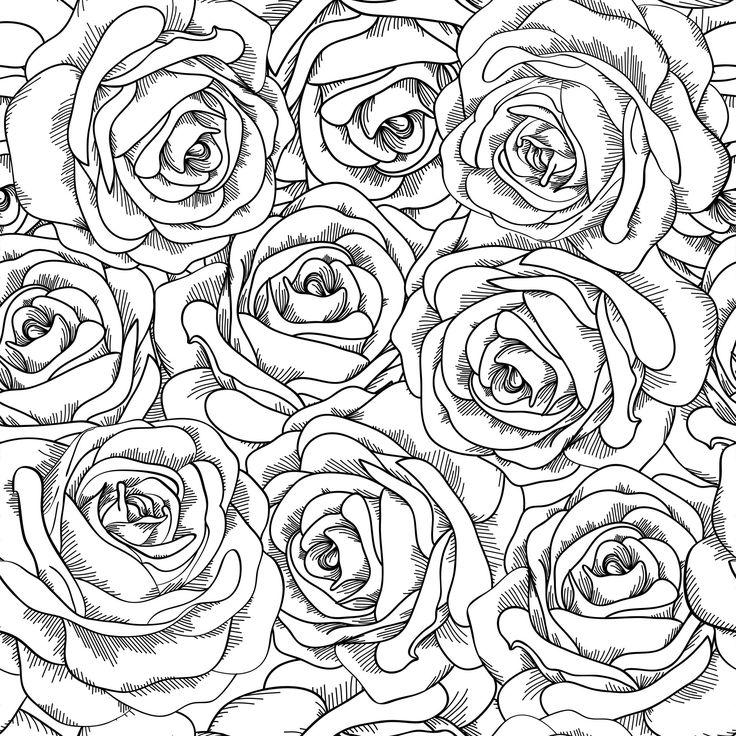 Coloriage de roses à imprimer