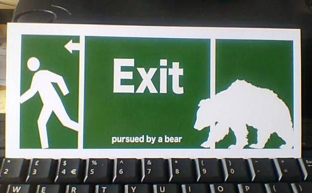 The only exit sign you need. #Shakesbear pic.twitter.com/vnRTrco9B7
