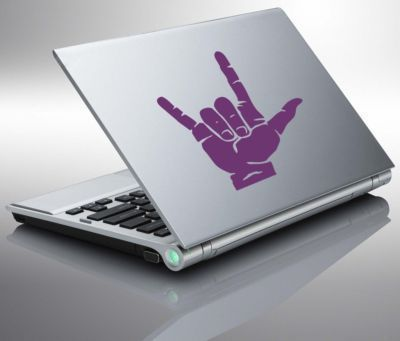 Sign Language I LOVE YOU Laptop Vinyl Sticker Decal