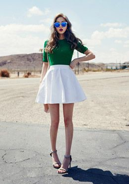 Romanti punch flare skirt | Korean Fashion #chuu