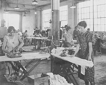 #3 The Civil Works Administration employed unskilled people in need of work, sewing was one of the jobs many women did.
