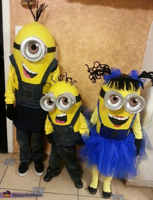 Despicable Me Minions - 2013 Halloween Costume Contest via @costumeworks