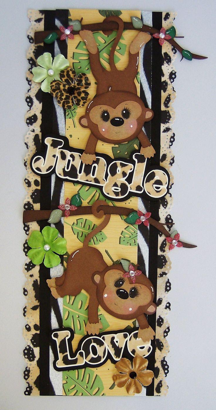 Jungle scrapbook ideas - Jungle Love Designs On Cloud 9 Great Idea For Scrapbook Page Border