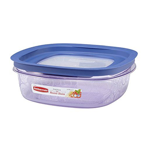 Rubbermaid Easy Find Lid Premier Food Storage Container Purple 9-cup (1812439)