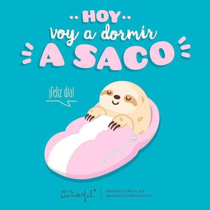 Hoy ni la grúa nos saca de la cama. Que tengáis un feliz día #mrwonderfulshop #quotes #felizdía #sleep
