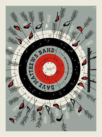 DMB 2013 BETHEL TARGET « Dave Matthews Band Posters « Methane Studios