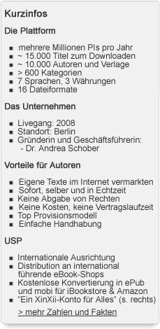 Quick Facts über XinXii: Zahlen, Daten, Fakten von Europa's Indie eBook-Plattform (Stand 02|12)