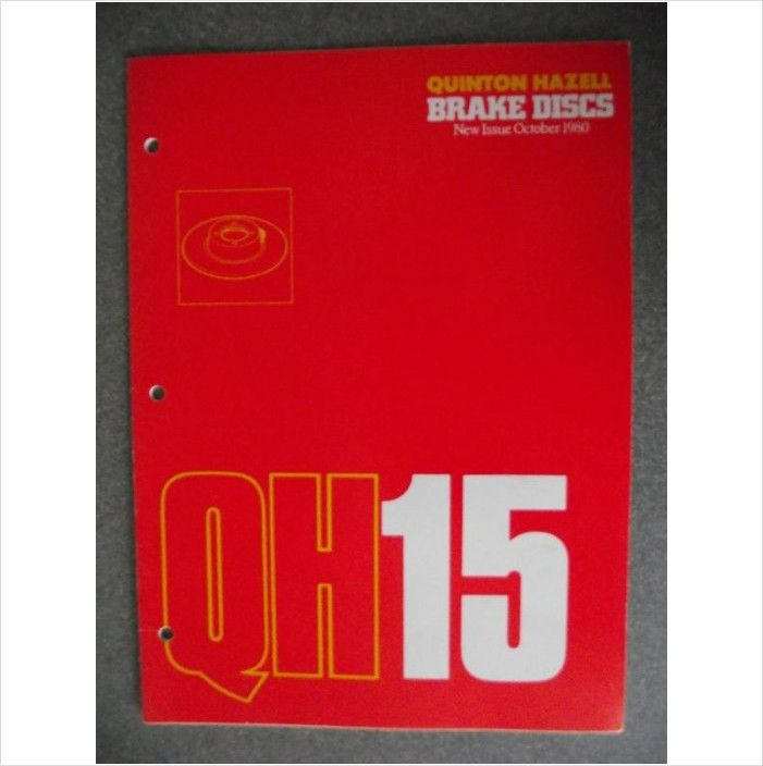 Quinton Hazell Qh15 Brake Discs Catalogue 1980 On Ebid