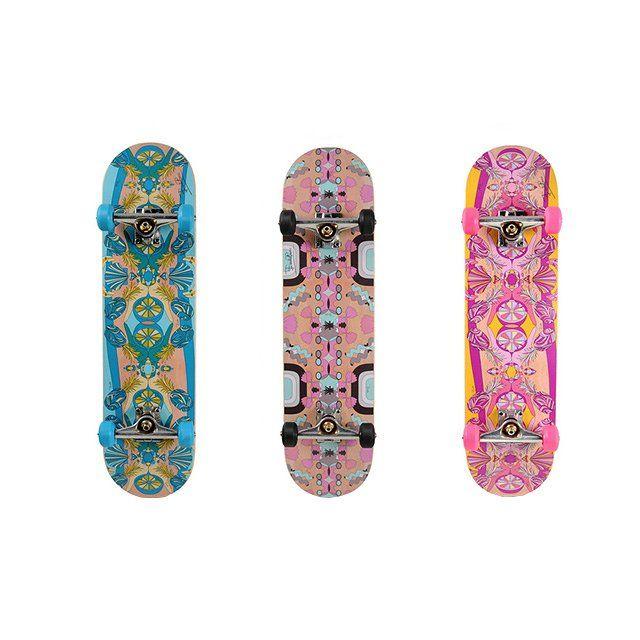 Emilio Pucci skateboards, price upon request For information: emiliopucci.com