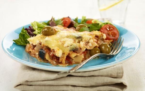 Oppskrift på Gresk lasagne