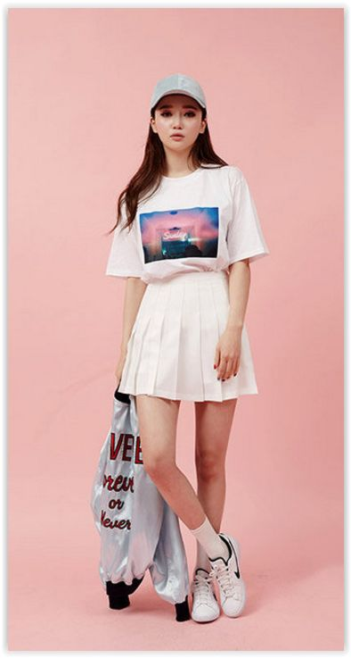 All Korean Fashion items Up to 70%OFF! chuu - Pleated Mini Skirt.  #YesStyle #pleatedskirt #koreanfashion